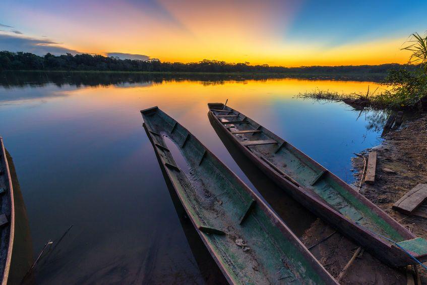 puesta delsol en el Amazonas