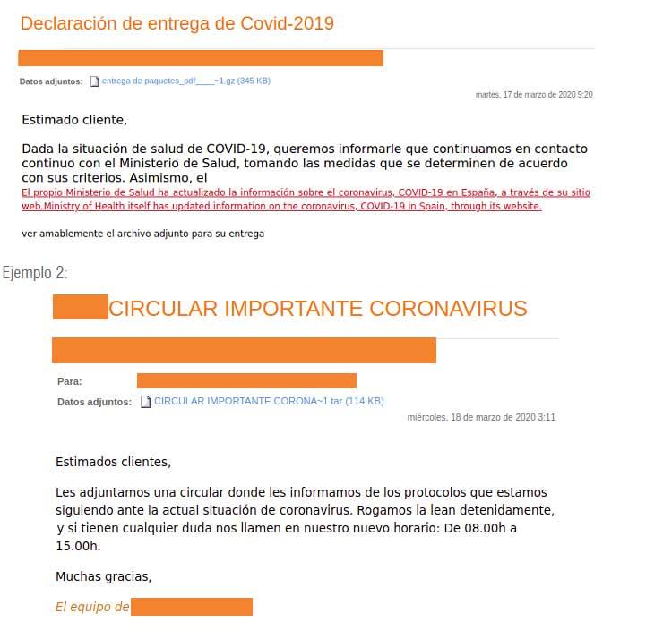 estafa coronavirus
