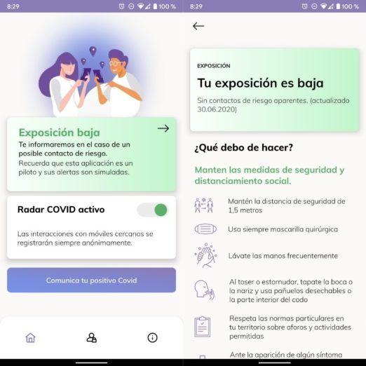 Consejos para usar de forma segura Radar Covid, la app oficial de rastreo en España
