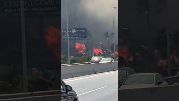 Se sospecha que la chispa del incendio de Estepona saltó en el Club de Alterne Glass Palace