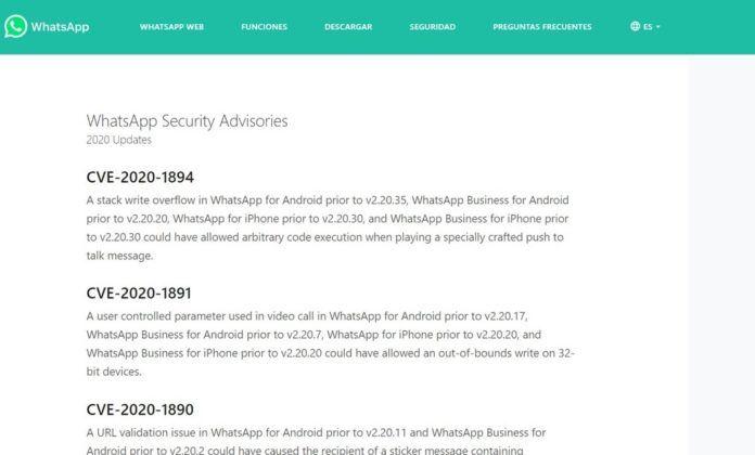 El site de consulta de seguridad de WhatsApp se estrena con seis vulnerabilidades