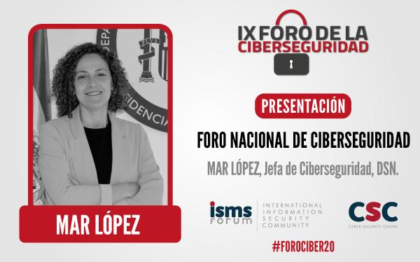 Mar López, una de las ponentes en el foro de la cibersguridad
