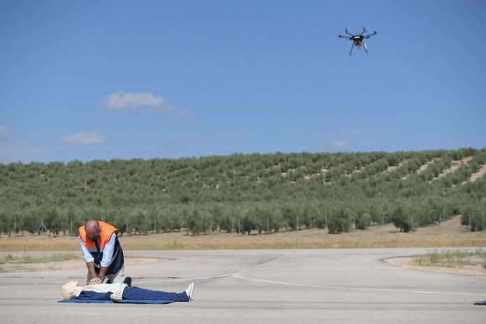 Vodafone realiza un vuelo con un dron de emergencias controlado por 5G