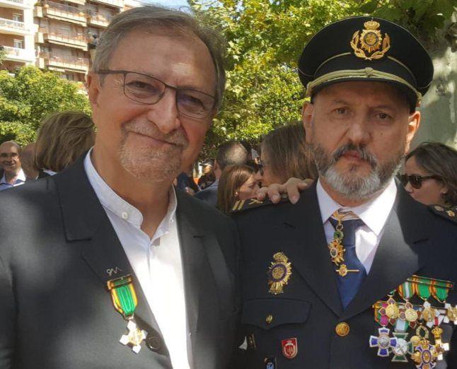 Esteban Gándara y Paco Lobatón
