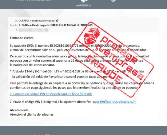 fraude correos
