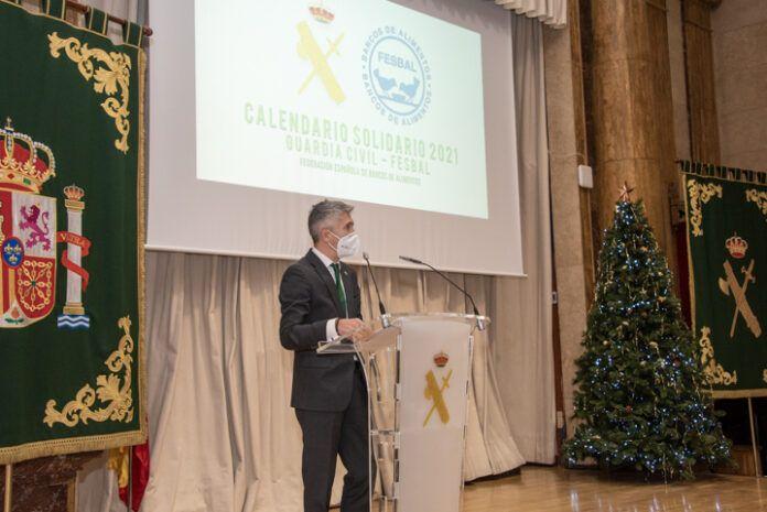 Grande-Marlaska en el acto de presentación del calendario solidario de la Guardia Civil