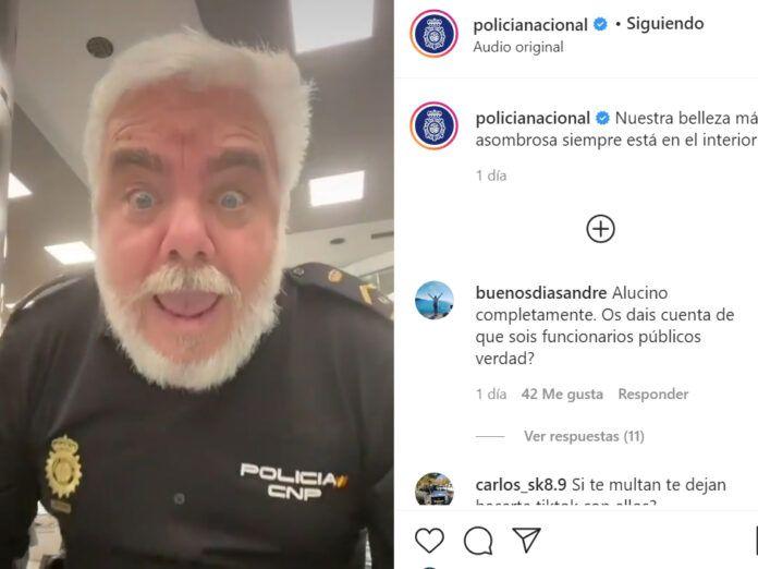 Policía Nacional en TikTok Beauty Challenge