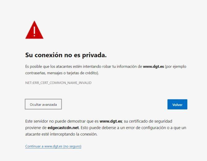 La Web de la DGT tiene un problema de Seguridad y está en riesgo de ser hackeada