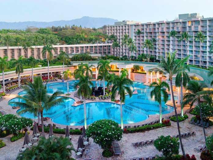 Uno de los resort de Kauai donde se utilizan pulseras para combatir las expanción del Covid entre los turistas, el Marriott