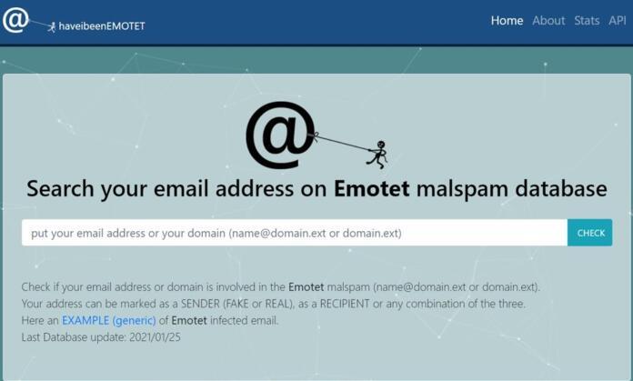Una web te ayuda a comprobar si Emotet ha atacado tu email o dominio