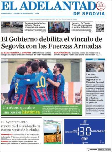 El Adelantado de Segovia protesta por la elección de Córdoba por parte del Ejerecito como sede de su proyecto tecnológico