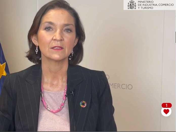 La ministra de Industria, Comercio y Turismo, Reyes Maroto