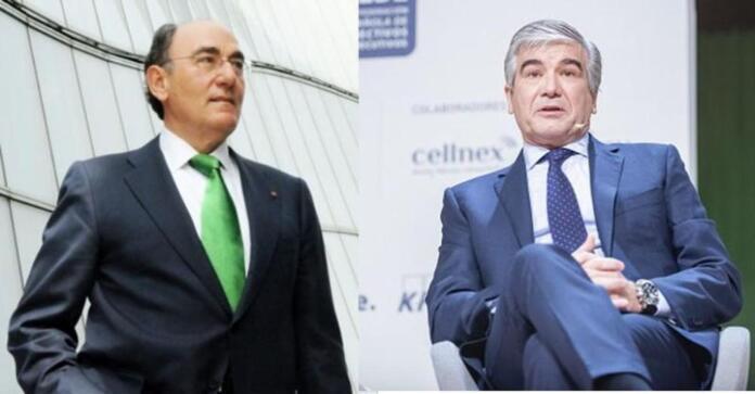Los presidentes de Iberdrola y de Naturgy, Ignacio Galán y Francisco Reynés