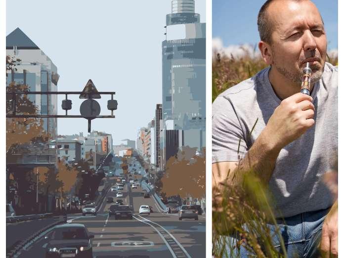 Caminar por Madrid expone a más tóxicos que vapear un cigarrillo electrónico
