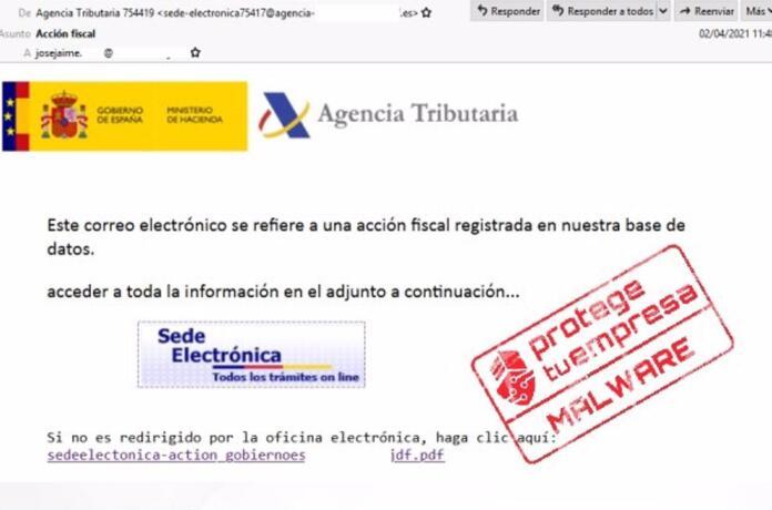 Un malware suplanta a la Agencia Tributaria para robar datos de usuarios en la campaña de la Renta