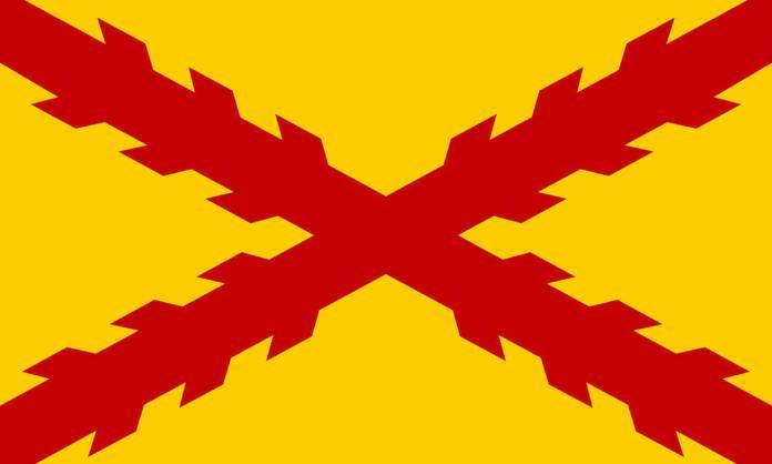 Bandera de los Tercios Morados Viejos, símbolo de la asociación
