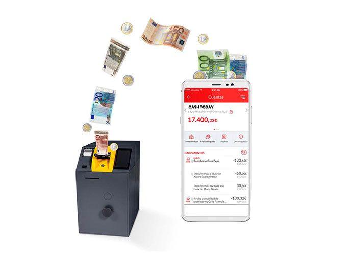 Cash today, la solución de Banco Se Santander y Prosegur para gestionar de forma integral el efectivo en el el punto de venta.