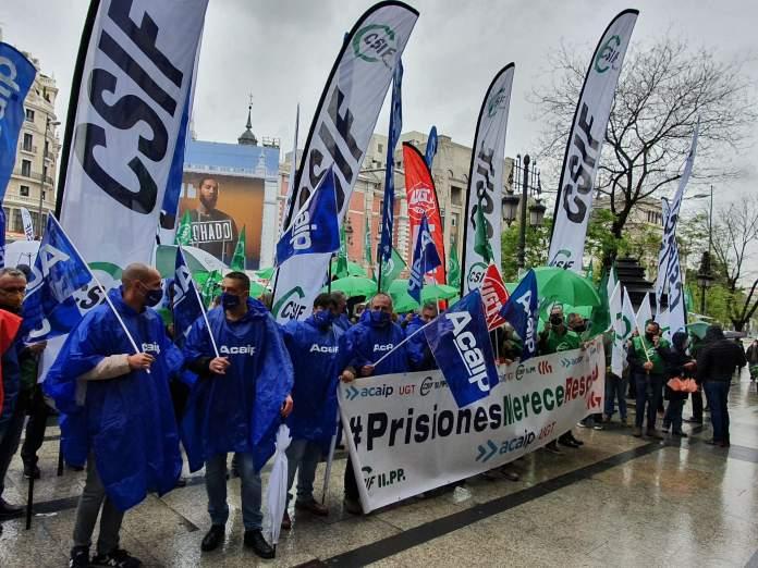 Funcionarios de prisiones protestan