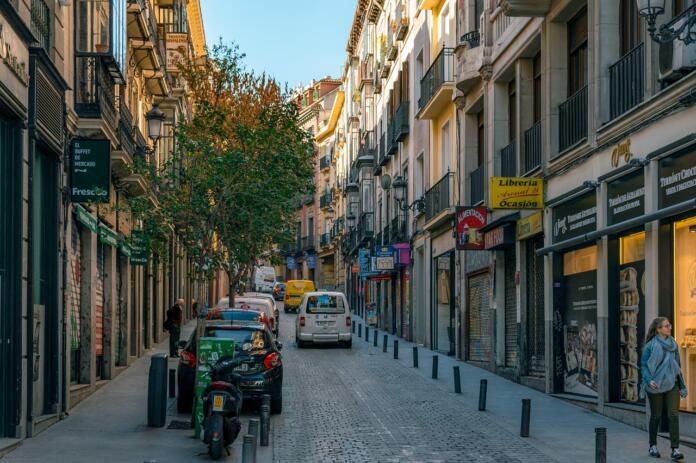 Calle de las Fuentes del centro de Madrid