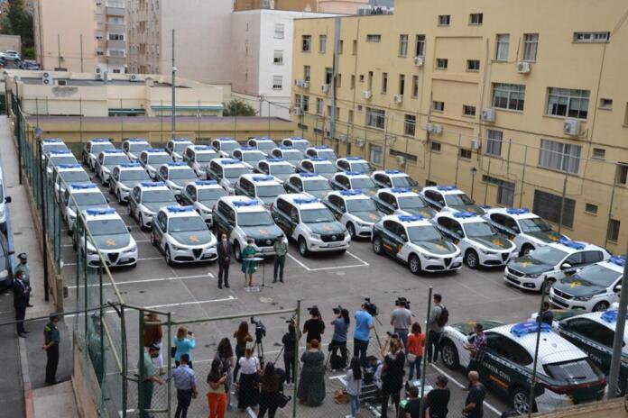 Presentación de los 97 vehículos bicolores que ha recibido la Guardia Civil de las Islas Canarias en mayo de 2021