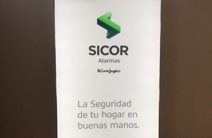 Tótem Sicor Alarmas - El Corte Inglés