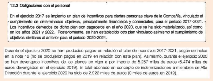 Incentivos directivos de Orange