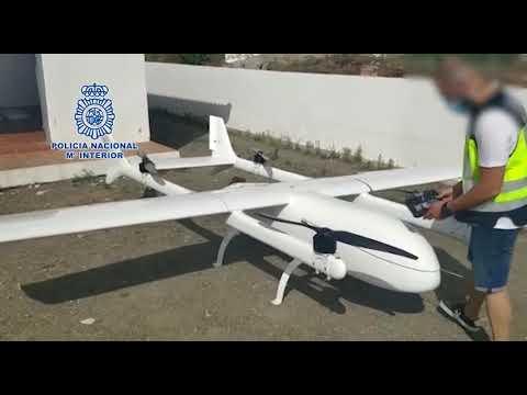 Intervenido en Málaga un dron de 4,35 metros para el transporte de droga desde Marruecos