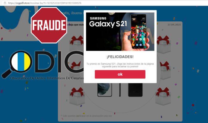 Estafa de phishing que circula por WhatsApp con Movistar y el Galaxy S21 como ganchos - ODIC