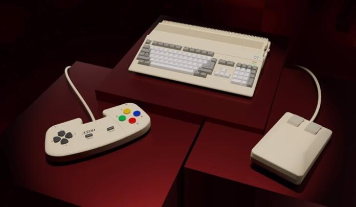 La consola retro The A500 Mini, inspirada en la Amiga 500. POLITICA INVESTIGACIÓN Y TECNOLOGÍA RETRO GAMES
