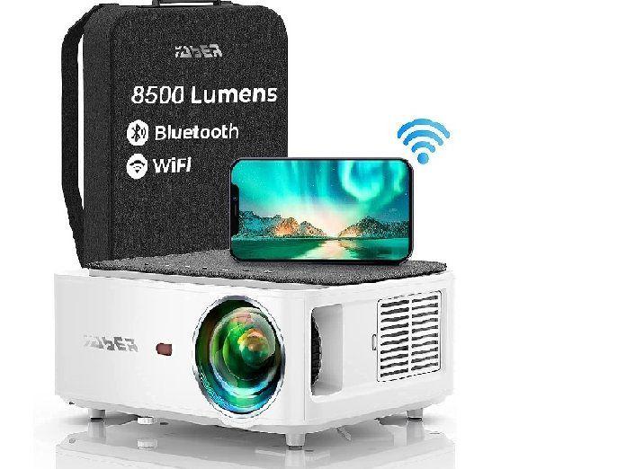 Proyector WiFi Bluetooth 1080P, YABER V6 8500 Lúmenes