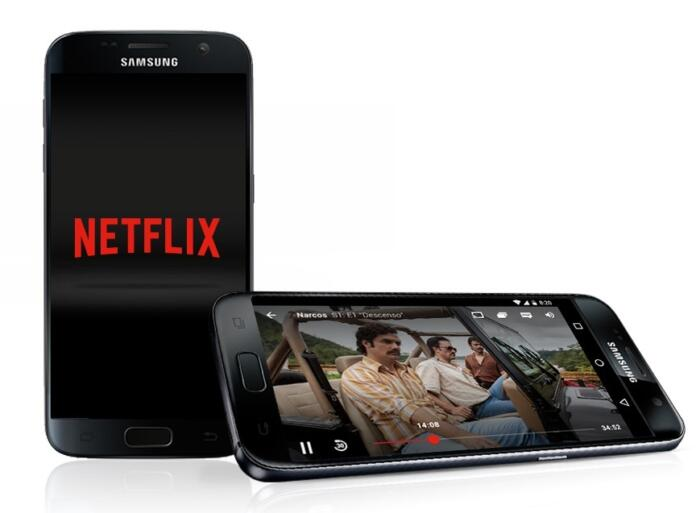 Aplicación de Netflix en un móvil Galaxy S7 - Foto archivo Europa Press