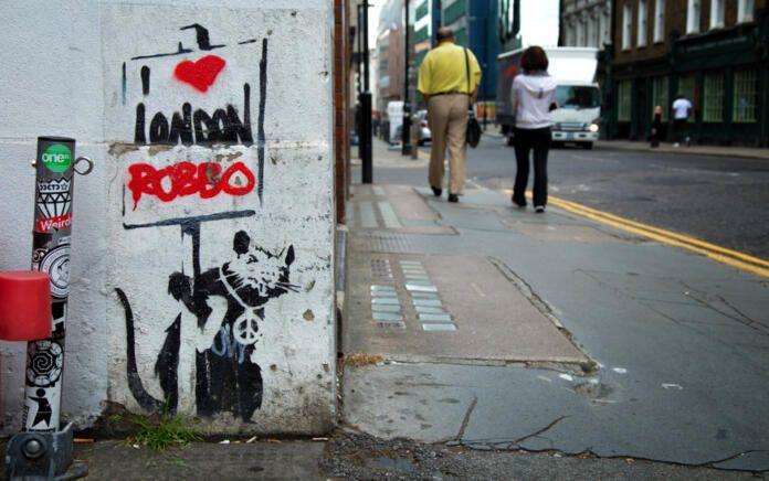 Grafiti de Bansky en Londres