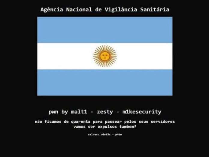 la web de sanidad brasileña hackeada