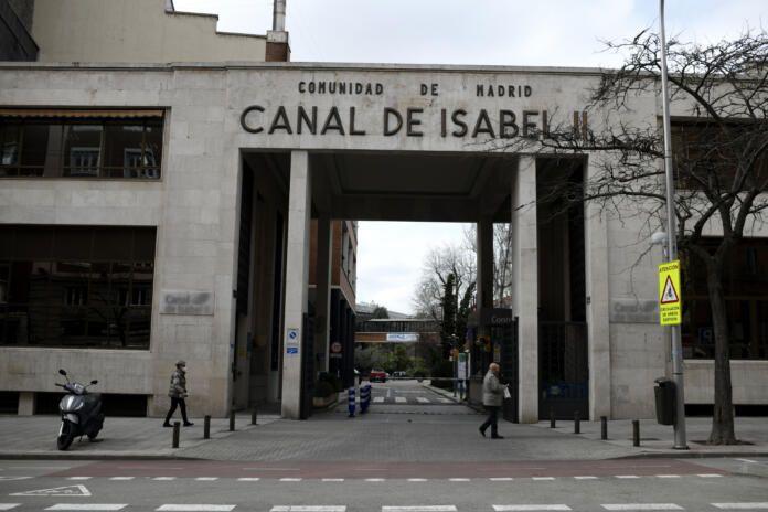 Entrada de las instalaciones del Canal de Isabel II, en Madrid (España), a 15 de febrero de 2021. Foto de archivo Europa Press