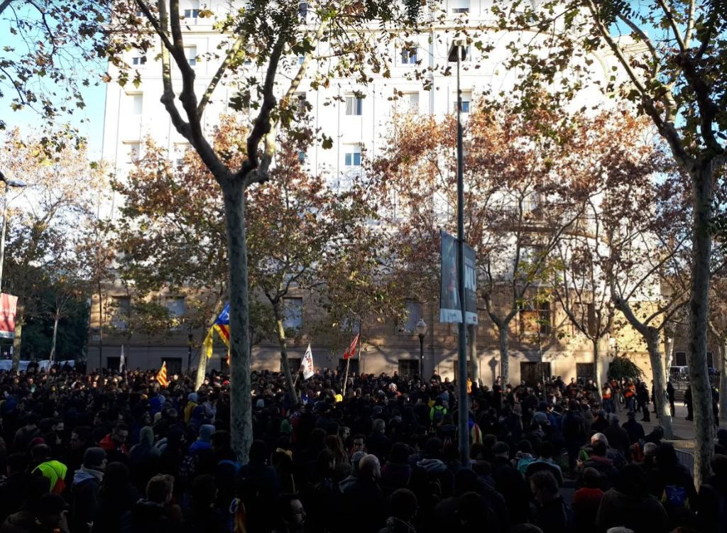 Imagen de una manifestación en Cataluña