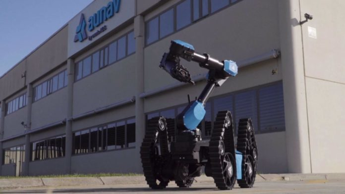 aunav.NEO, el único robot de desactivación de explosivos con geometría variable